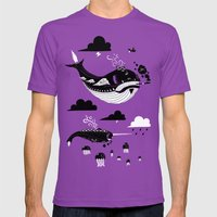 Badasses Roaming The Skies Mens Fitted Tee Ultraviolet SMALL