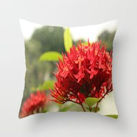 Crimson Focus Throw Pillow