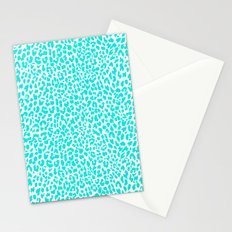 Turquoise Leopard Stationery Cards