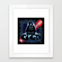 Darth Vader Mask On Dark… Framed Art Print