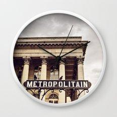 Metropolitain - Paris Metro Sign Wall Clock