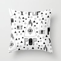 X.1985 Throw Pillow