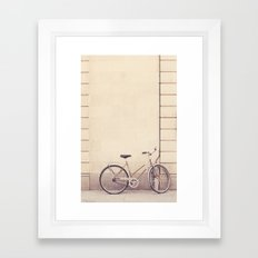 Beige bike Framed Art Print