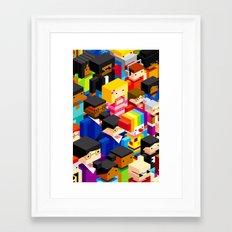 Pattern people Framed Art Print