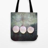 Three Rose Petals Tote Bag