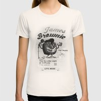 James BROWNIE! Womens Fitted Tee Natural SMALL