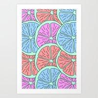 Spinning Citrus Art Print