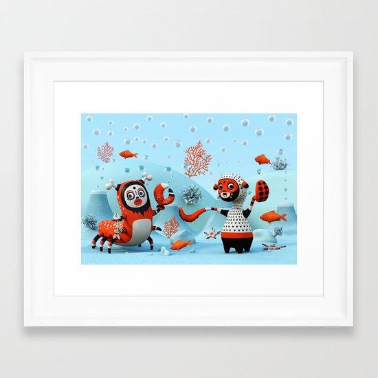 Dead Fish Framed Art Print