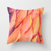 Flamingo Girl with Lashes  Throw Pillow