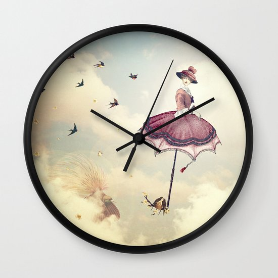 Spring Lady Wall Clock
