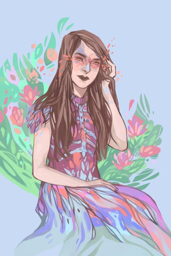 Floral Bird Art Print