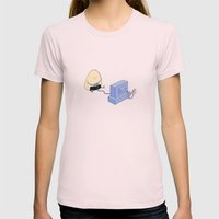 Onigiri video games! Womens Fitted Tee Light Pink SMALL
