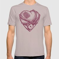 My Locked Heart Mens Fitted Tee Cinder SMALL