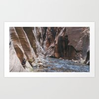 Cairn in the Zion Narrows Art Print