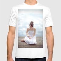Clouds 2 Mens Fitted Tee White SMALL