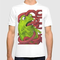 Frogs eat Insects Mens Fitted Tee White SMALL