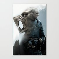 The Hound's Fall Canvas Print