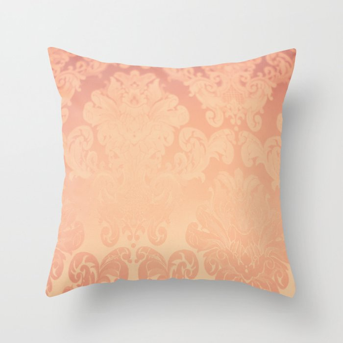 Pink Rose Vintage Throw Pillow by AC Photography Society6