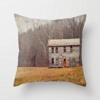 A Red Door Throw Pillow