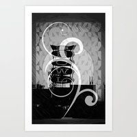 Tucson Bowl (embellished… Art Print