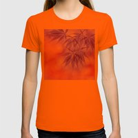 Maple In The Gold Fall Womens Fitted Tee Orange SMALL