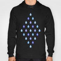 Blue raindrops Hoody