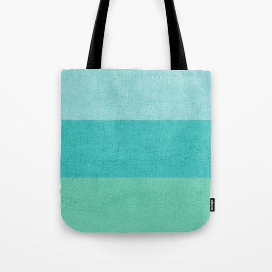 three stripes - teal Tote Bag