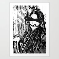 Black And White Eyes Art Print