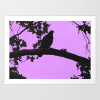 The Pink Bird Art Print