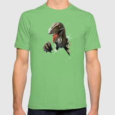 dinosaur Mens Fitted Tee Grass SMALL