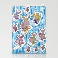 Colorful Swimming Stationery Cards