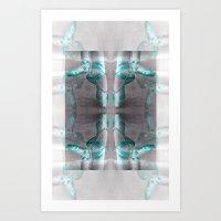 Ballet Shoe Blue Reflect… Art Print