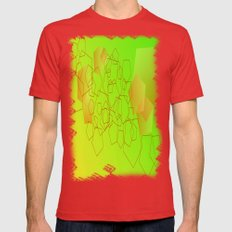 Pentagon explosion Mens Fitted Tee Red SMALL