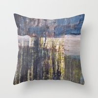 bluegreen  Throw Pillow