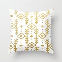 GOLD NORDIC Throw Pillow