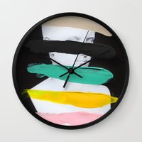 Untitled (Finger Paint 1… Wall Clock