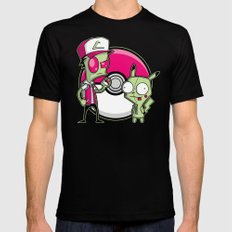 Po-GIR-mon Black SMALL Mens Fitted Tee