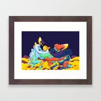 Moon & Stars Framed Art Print