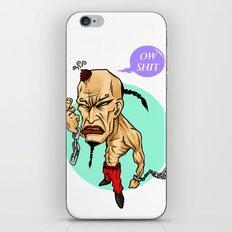 angry guy iPhone & iPod Skin