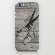 wood grain hair stylist scissors shears iPhone 6 Slim Case