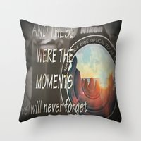 These Were The Moments Throw Pillow