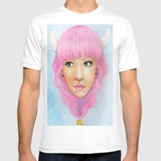 Bubblegum Queen White Mens Fitted Tee SMALL