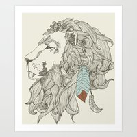 Chief In Colour Art Print