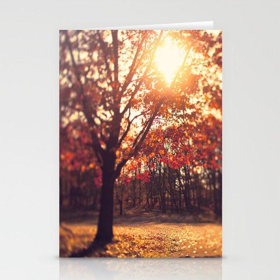 Autumn Sun  Stationery Card