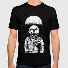 Looking for Space Black Mens Fitted Tee SMALL
