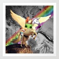 Space Art Unicorn Art Print