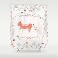 fox & grapes Shower Curtain