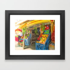 At the Market Framed Art Print