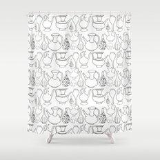 Persian Pots (b&w) Shower Curtain