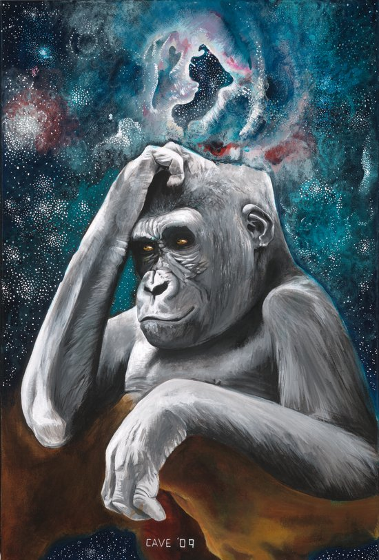 Gorilla in the Universe Canvas Print